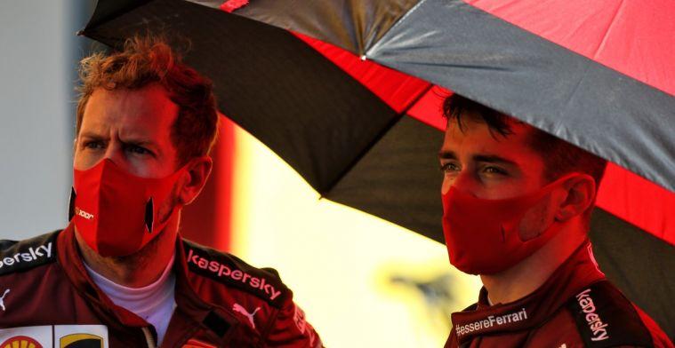 Leclerc head held high: Always feels good to be a Ferrari driver.