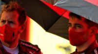 """Afbeelding: Leclerc is niet klein te krijgen: """"Voelt altijd goed om Ferrari-coureur te zijn"""""""