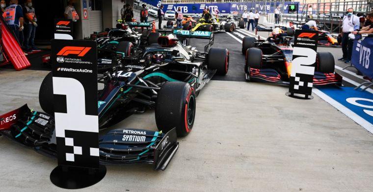 Samenvatting van de zaterdag in Rusland: Hamilton en Verstappen maken het verschil
