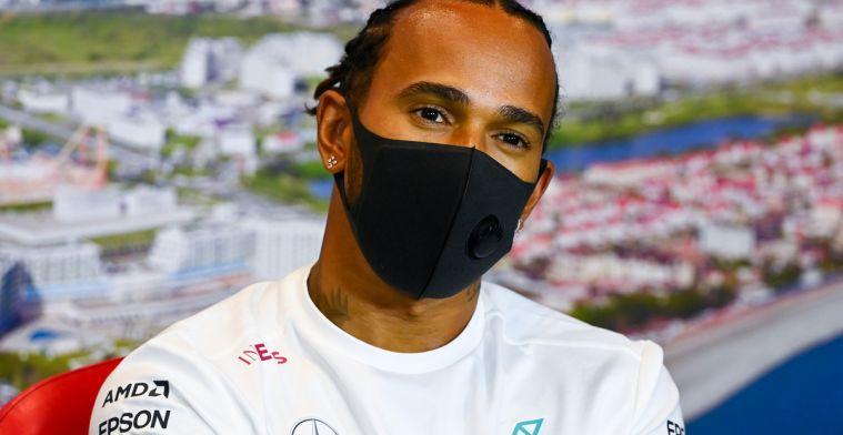 Hamilton angstig voor de start: 'Waarschijnlijk word ik gelijk ingehaald'