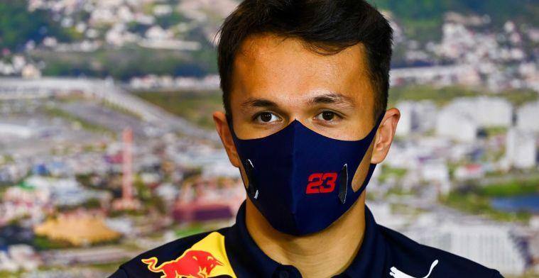 Red Bull vervangt de versnellingsbak van Albon ten koste van een gridstraf