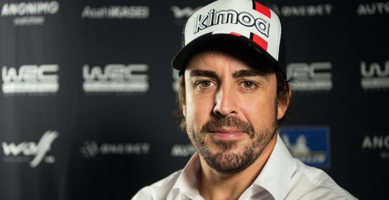 Alonso over zijn angsten: Elke keer als je daar rijdt, is er een risico