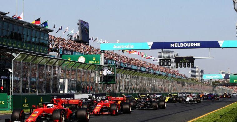 'Formule 1 in 2021 weer van start in Australië'