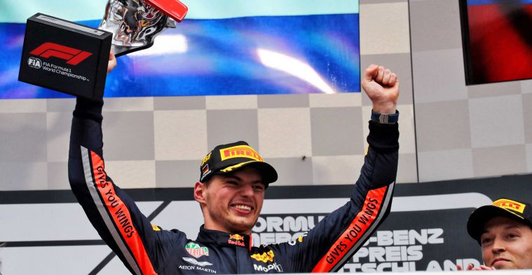 Conditions in Germany are again ideal for a stunt by Verstappen