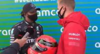Image: Schumacher family gifts Hamilton one of Michael's helmets after 91st win!