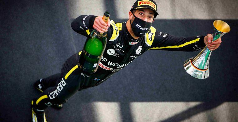 Ricciardo: 'Dat is het coolste cadeau wat ik ooit heb gezien'