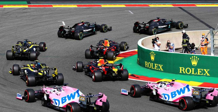 2021 calendar   The number of coronavirus infections in each country with F1 GP