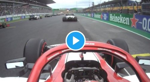 De weergaloze start van Raikkonen, van P16 richting de top vijf!