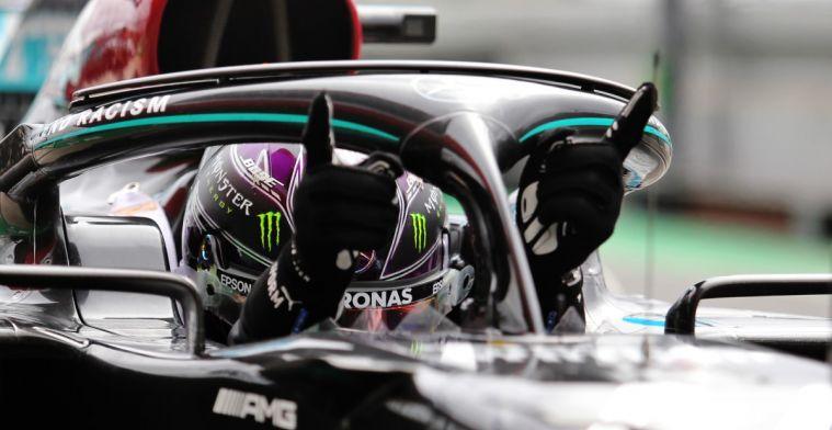 Formule 1 gaat los op twitter met recordlijstje van Lewis Hamilton