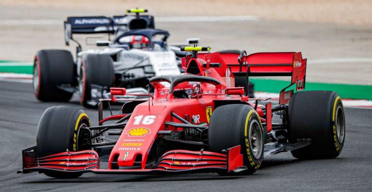 In Portugal testte Ferrari de vloer van volgend jaar