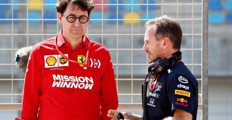 Binotto deelt sneertje uit aan Red Bull en Mercedes: 'Dan had ik protest verwacht'