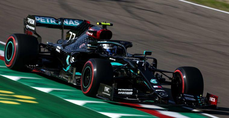 Bottas pakt pole in Imola, Gasly knap vierde achter Verstappen
