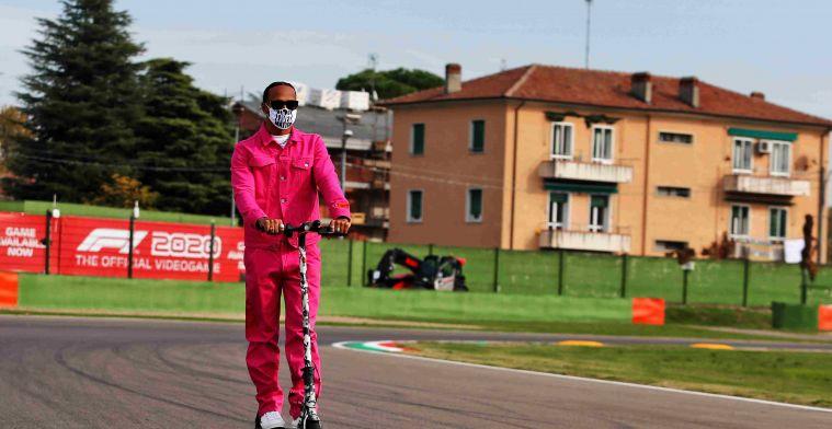 Hamilton: 'It's a harsh memory to see where Ayrton crashed'
