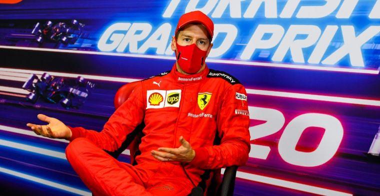 Vettel: 'Dat is vast leuk als ik dik ben en geen haar meer heb'