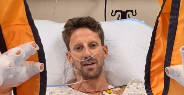 Grosjean responds for the first time: Would like to say I'm okay