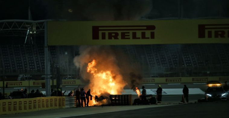 Formule 1-wereld in shock na horrorcrash van Grosjean in Bahrein