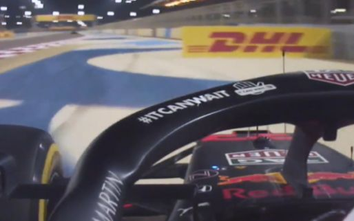 Remarkable: Verstappen hits advertising board DHL during race