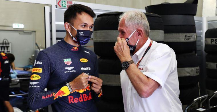 'Albon behoudt ondanks dramatisch seizoen zijn stoel bij Red Bull Racing'