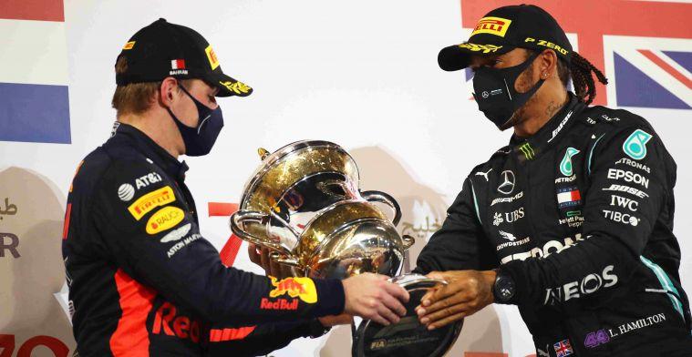 Datum van coronatest voor Verstappen is bekend na besmetting Hamilton