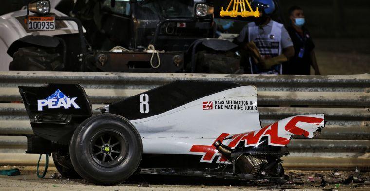 FIA start onderzoek naar crash van Grosjean, pas over acht weken duidelijkheid