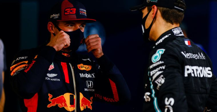 """Verstappen on Russell disappointment: """"Good moment to lie down in front of camera"""""""