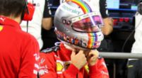 Image: Vettel raises significant sum of money with rainbow helmet for children in Africa