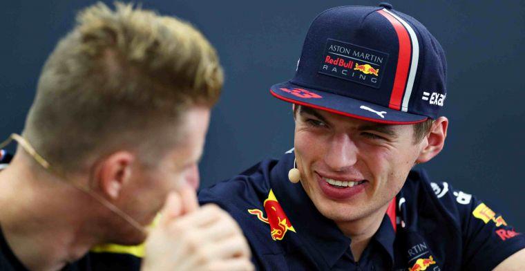 Verschil tussen Verstappen en Hulkenberg: Bij Nico is het meer een geintje
