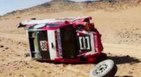 Image: Dakar: Ten Brinke rolled four times, car total loss