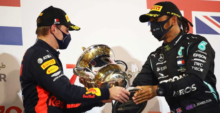 Verstappen behind Hamilton again: 'Generally the number two'