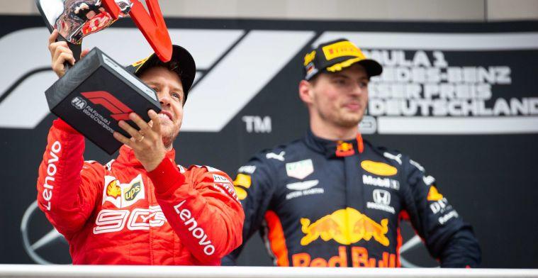 Verstappen versus Vettel: Vaker op het podium, maar de wereldtitel mist nog