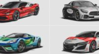 Image: Pictures: Iconic F1 liveries reimagined on modern road cars
