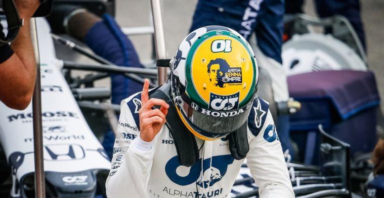 Gasly donates special helmet to the Senna Foundation