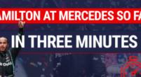 Afbeelding: Hamilton's Mercedes carrière tot nu toe in minder dan drie minuten!
