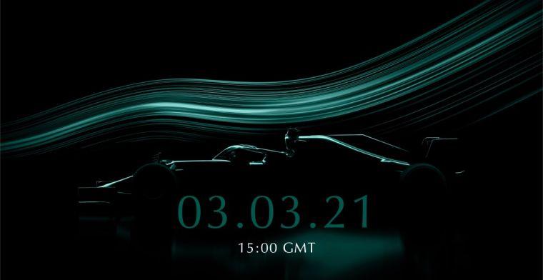 Aston Martin maakt datum presentatie bekend, met kans om Vettel vragen te stellen