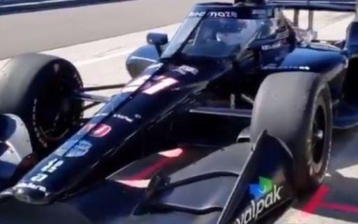 F1 Social Stint   Grosjean drives first IndyCar test