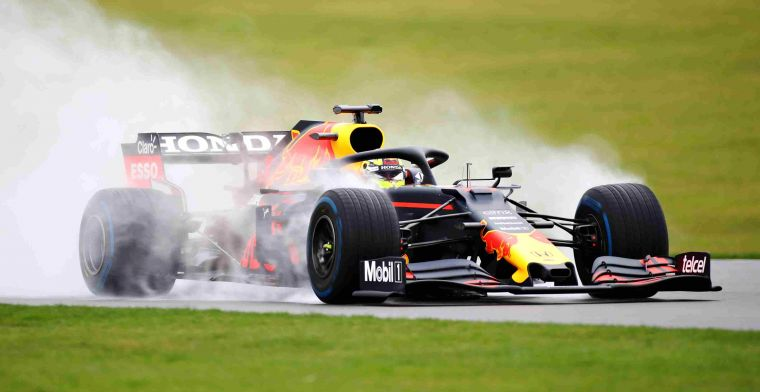 Images: Perez meets Red Bull car on wet Silverstone