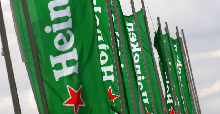 UPDATE   Ook in nieuwsbrief van Red Bull Racing prijkt het logo van Heineken