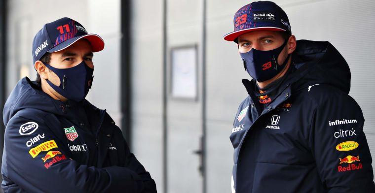 Perez en Verstappen geinen: 'Wie zullen we proberen te verslaan?'