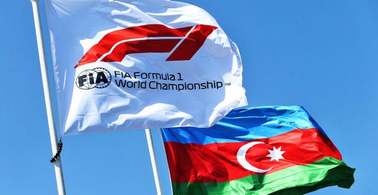 Grand Prix van Azerbeidzjan zal in juni afgesloten worden van publiek
