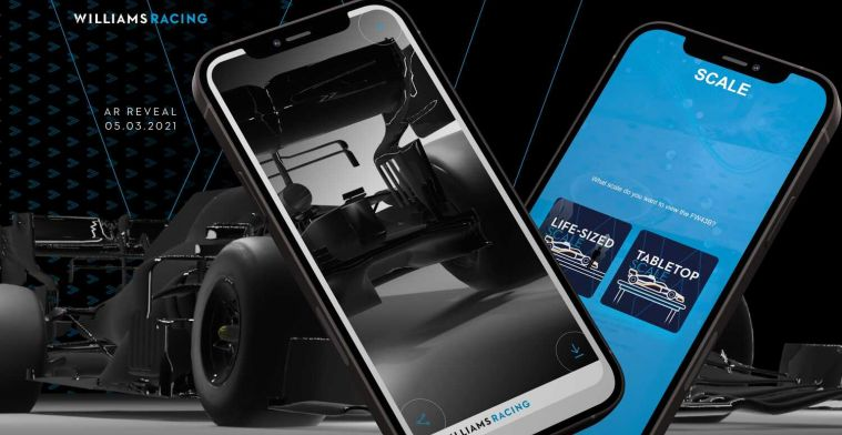 Williams hacked: FW43-B unveiling by augmented reality cancelled
