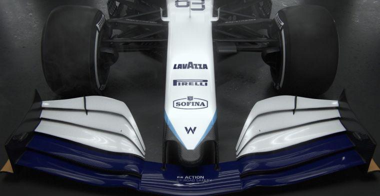 Williams met grotere aerodynamische aanpassingen dan concurrentie, maar geen bult