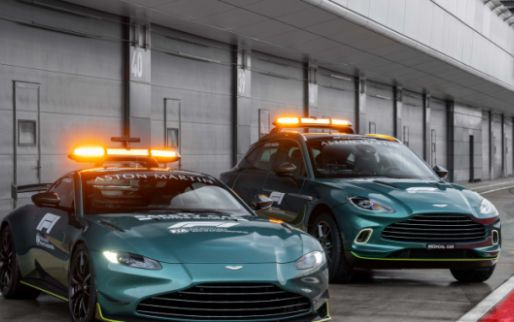 First images of the new Safety and Medical Car from Aston Martin and Mercedes