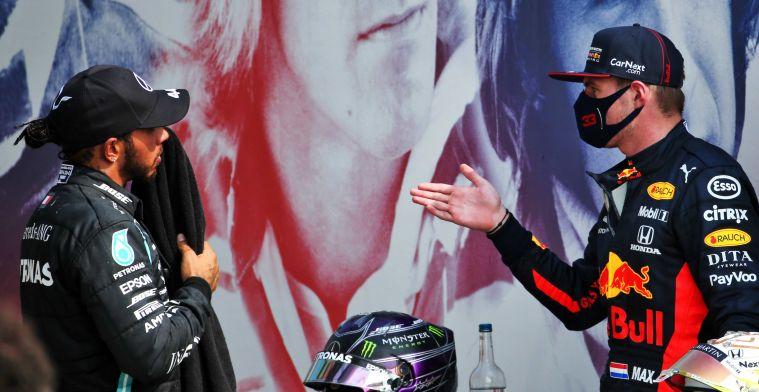 Hamilton is gewaarschuwd: 'Duidelijk dat Verstappen hem dit jaar zal uitdagen'