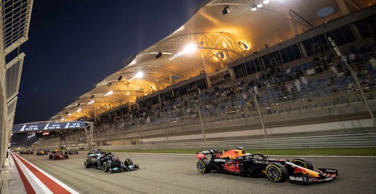Dit is na de Grand Prix van Bahrein de stand in het constructeurskampioenschap