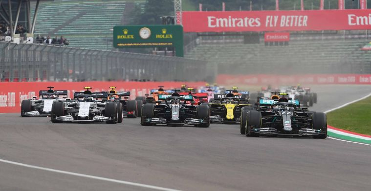 No fans present at Imola: 'Hope it's the last time without an audience'.