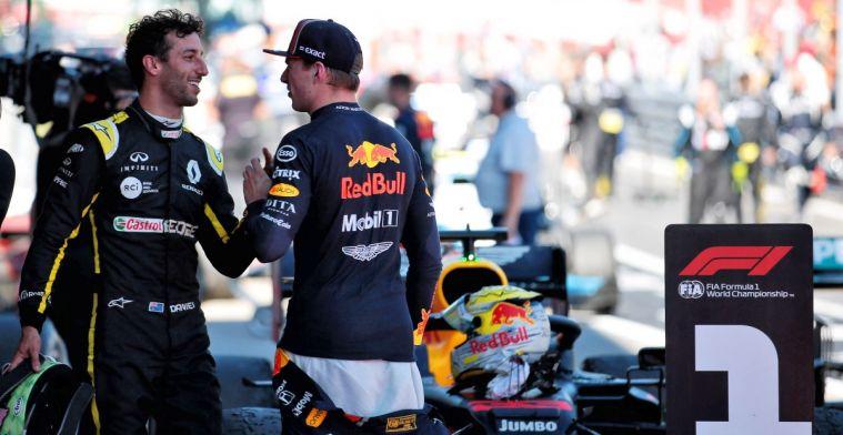Ricciardo over rivaliteit met Verstappen: Wilden elkaars carrière beëindigen