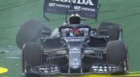 Afbeelding: Flinke klapper voor Tsunoda tijdens kwalificatie GP Imola