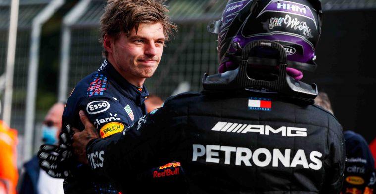 Verstappen en Hamilton steggelen over touché: Dan moet ik de video nog eens zien