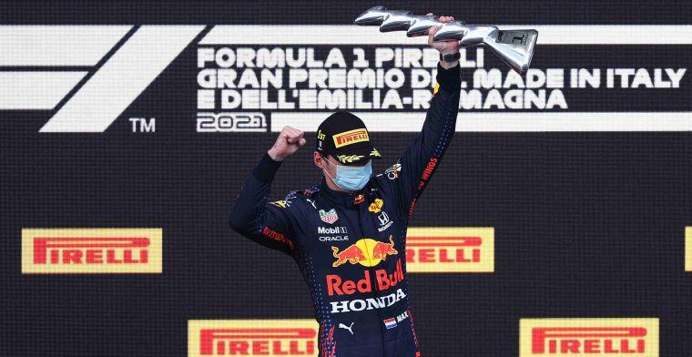 Volledige uitslag Grand Prix van Imola: Verstappen pakt elfde F1-zege ooit