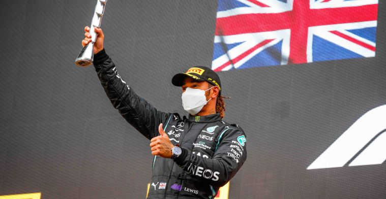 Hamilton surprised by podium: 'Didn't expect this'.